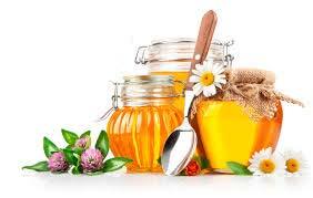мед, банки, цветы