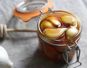 чеснок, мед