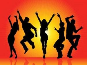 силуэты танцующих