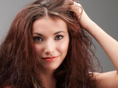 лицо девушки, волосы