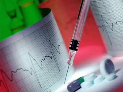 кардиограмма, шприц