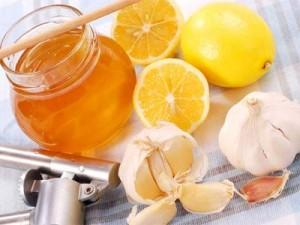 мед, лимоны, чеснок