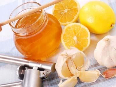 лимон, чеснок мед