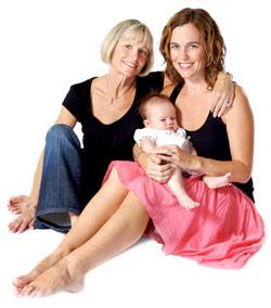 бабушка, мама и ребенок