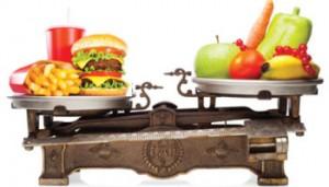 еда на весах