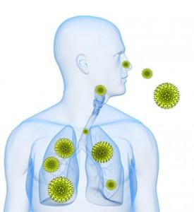 вдыхание аллергена