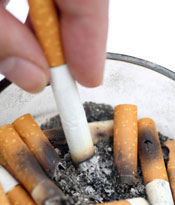 курение, окурки
