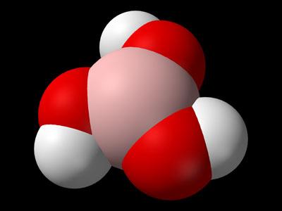 молекула борной кислоты