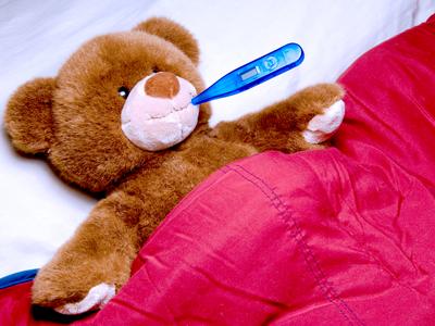 медвежонок заболел