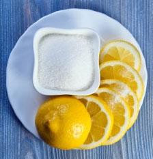 сахар, лимон