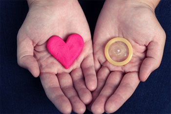 сердце, презерватив