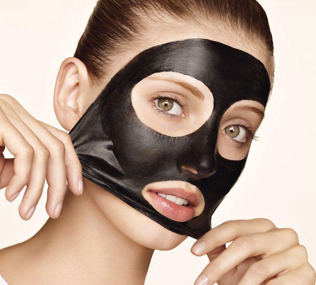 маска из угля и желатина