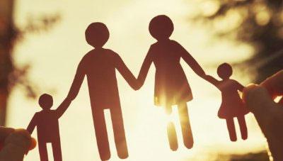 семья, силуэты