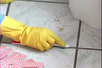 чистка кафеля
