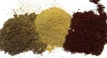 три компонента из сушеных трав