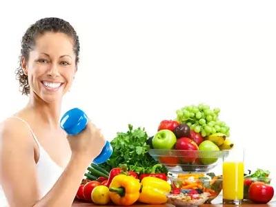 девушка, спорт, здоровое питание