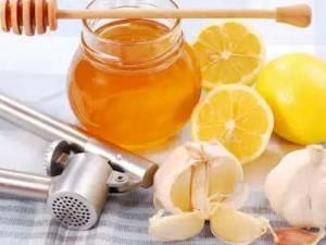 мед, чеснок, лимоны