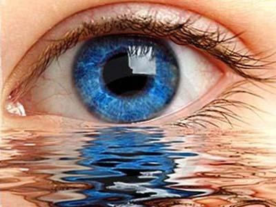 глаз, вода