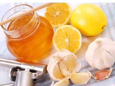 лимон, чеснок, мед