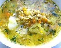 овощной перловый суп