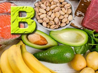 Витамин B, продукты